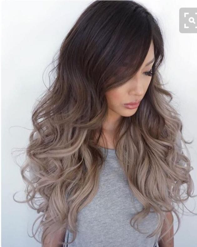 Ombre Balayage Light Brown Ash Dark Brown Hair Colorcut In