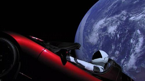 The Falcon Heavy sent a cherry red Tesla roadster into an ...