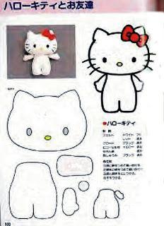 e885467c8 FREE Felt Hello Kitty Pattern | handmade doll | Felt dolls, Hello ...