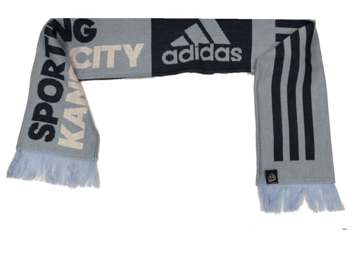 Download Sporting Kc Kansas City Mls Adidas Team Colors Acrylic Knit Scarf With Tassles Scarves With Tassles Sporting Kc Team Colors
