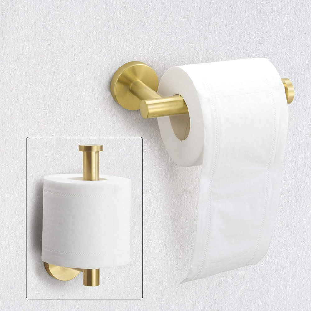 Amazon Com Nolimas Gold Toilet Paper Holder Sus304 Stainless Steel Half Open Round Wall Mounted Anti Rust Bathroom Hot In 2020 Toilet Paper Holder Toilet Paper Toilet