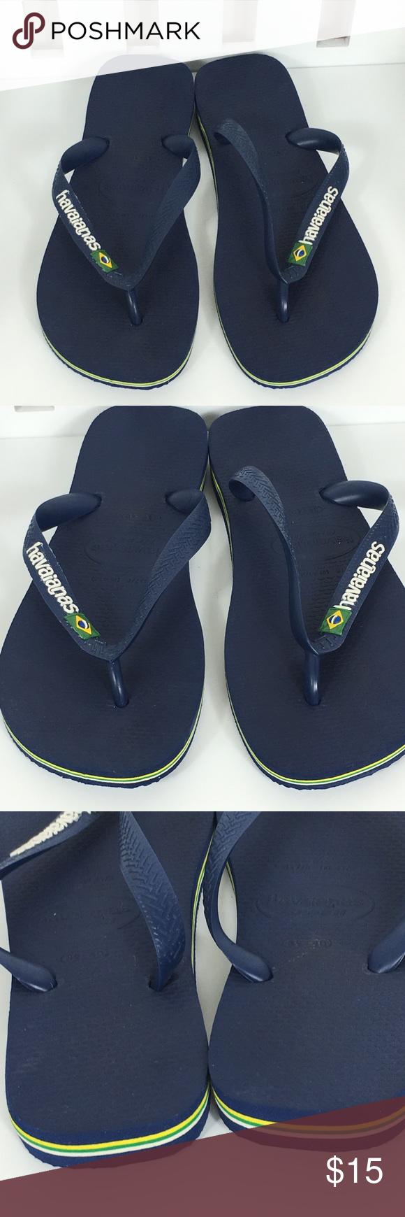 e4e46f7bca06 Havaianas flip flops for men Navy blue with hints of green