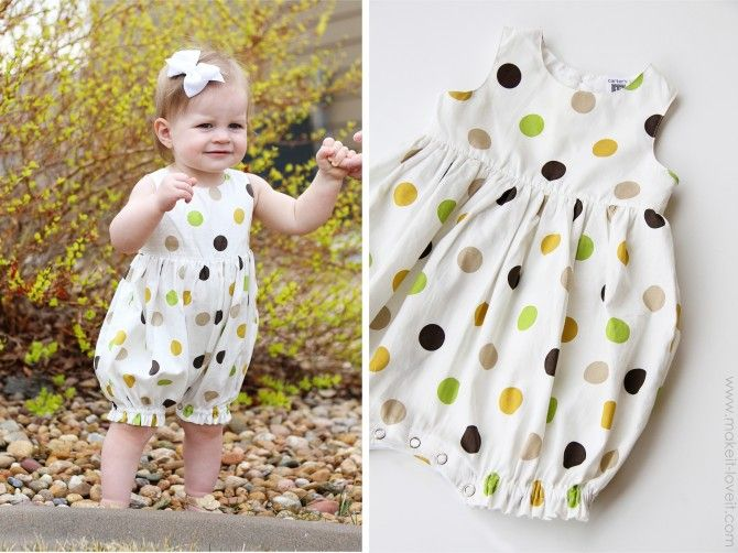 41632157e Turn a Baby Dress into a Bubble Romper   sewing for baby   Baby ...