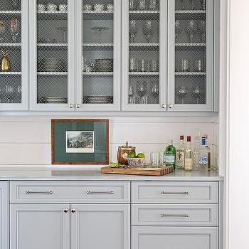 Chicken Wire Butler Pantry Cabinet Doors | Shiplap ...