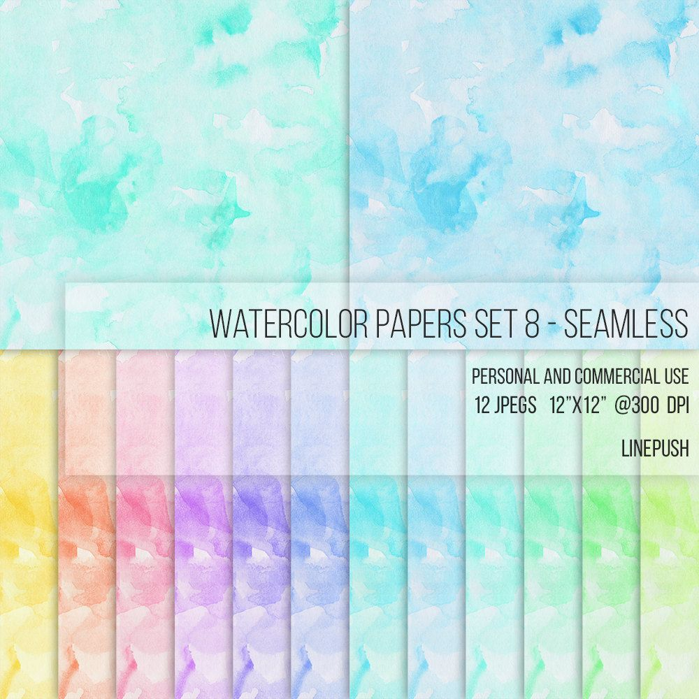 Watercolor Scrapbooking background  3600x3600 Seamless  SALE