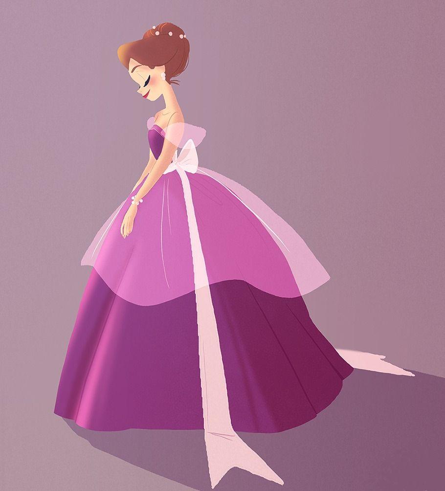 I missed drawing cute ladies in dresses! | Illustration Love ...