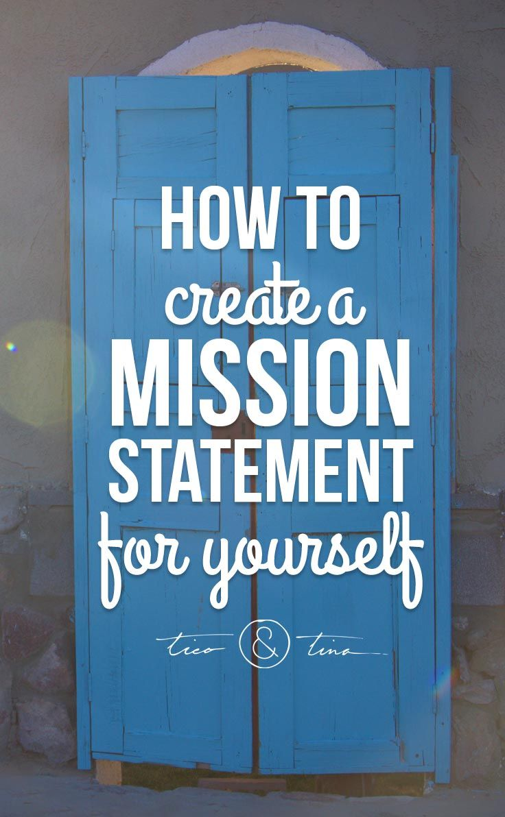 how to create a mission statement for yourself