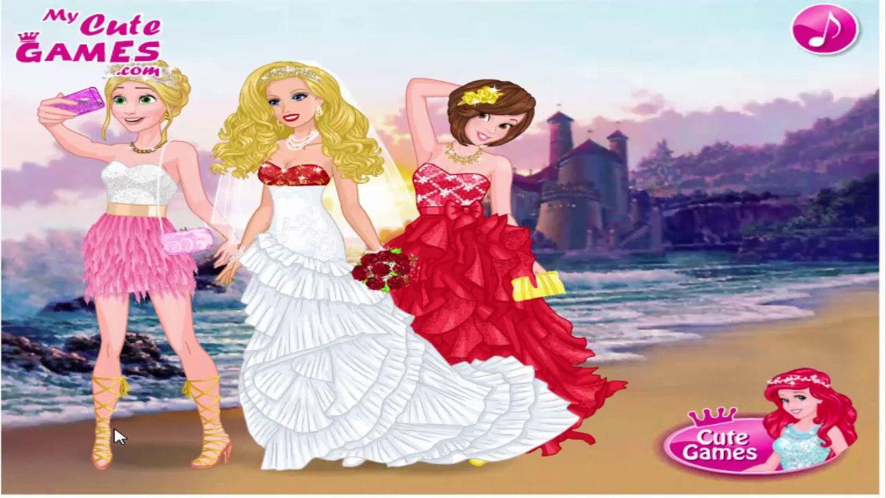 Barbie\'s Wedding Selfie With Princesses Барби Свадьба селфи С ...