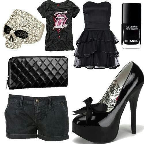 Rocker style outfit inspiration rocker fashion chic studded