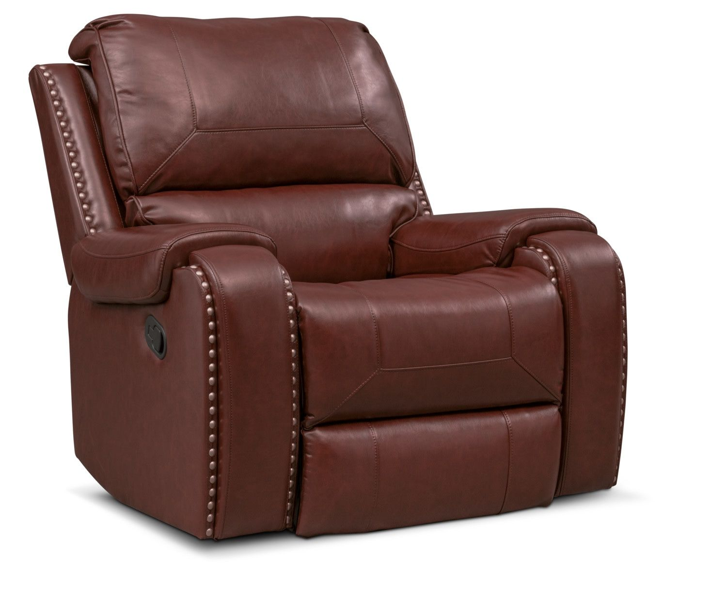 Austin Manual Recliner Brown Grey House Furniture Value City