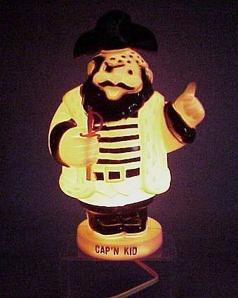 icollect247.com Online Vintage Antiques and Collectables - Capn Kid Nightlight / Bank Plastic Working 1950s