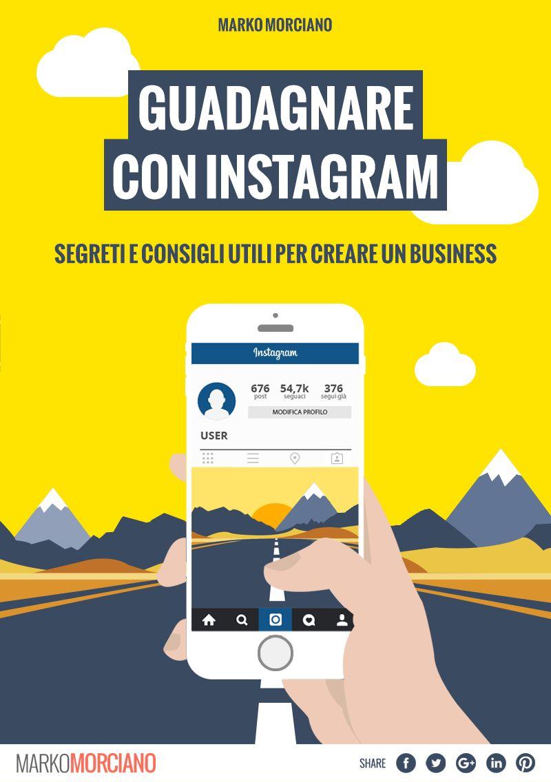 """Lo trovate sul mio sito www.markomorciano.com O direttamente qui """"Guadagnare con Instagram"""" raggiunti quasi i 100 lettori in 2 soli giorni! GRAZIE!  http://www.markomorciano.com/4431/articoli/instagram/guadagnare-con-instagram-ebook-di-marko-morciano/"""