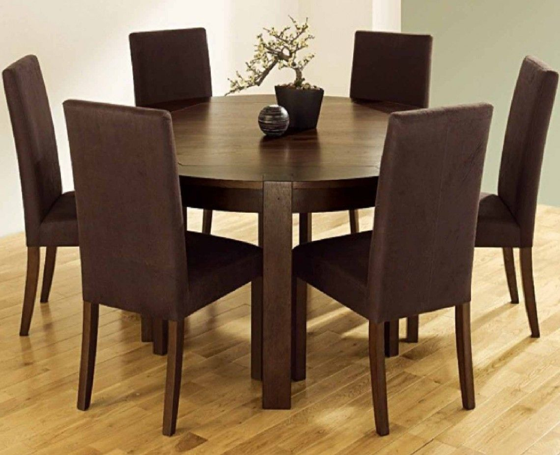 Furniture Nice Looking Brown Wood Round Kitchen Tables Chairs With