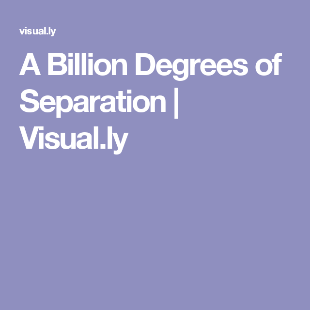 A Billion Degrees Of Separation Visual Ly