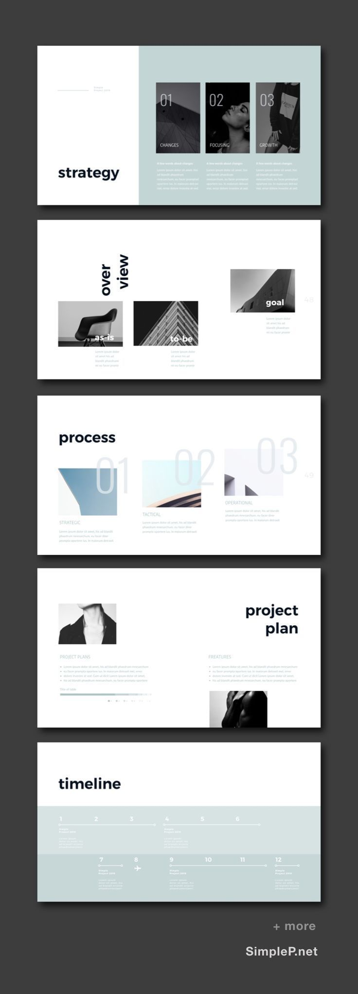 zero presentation powerpoint template strategy overview process