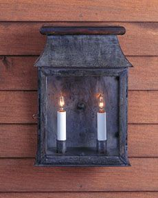 Authentic designs early american and colonial lighting for Early american outdoor lighting