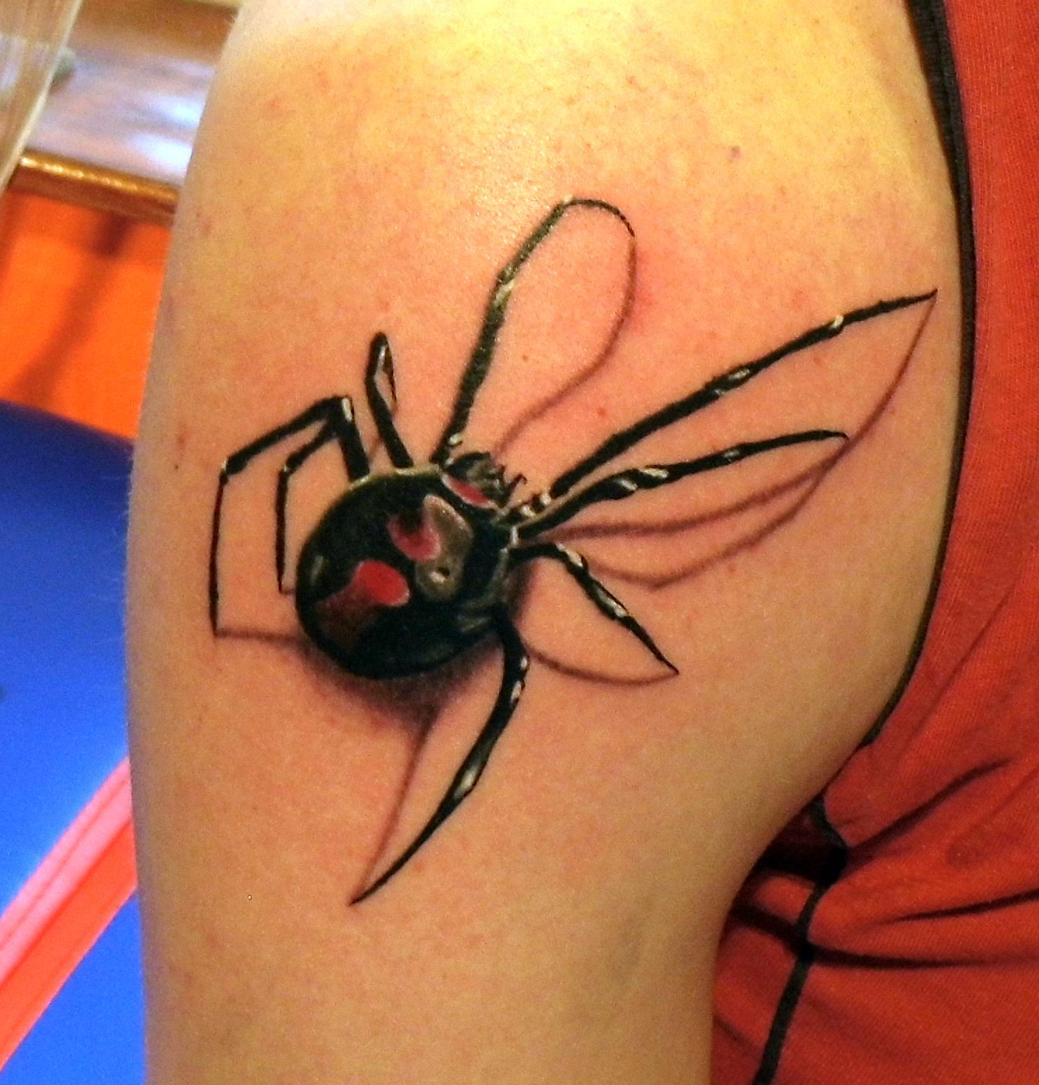 4431cab141be9 35 Spider Tattoos that will get you all tangled | tattoos ...