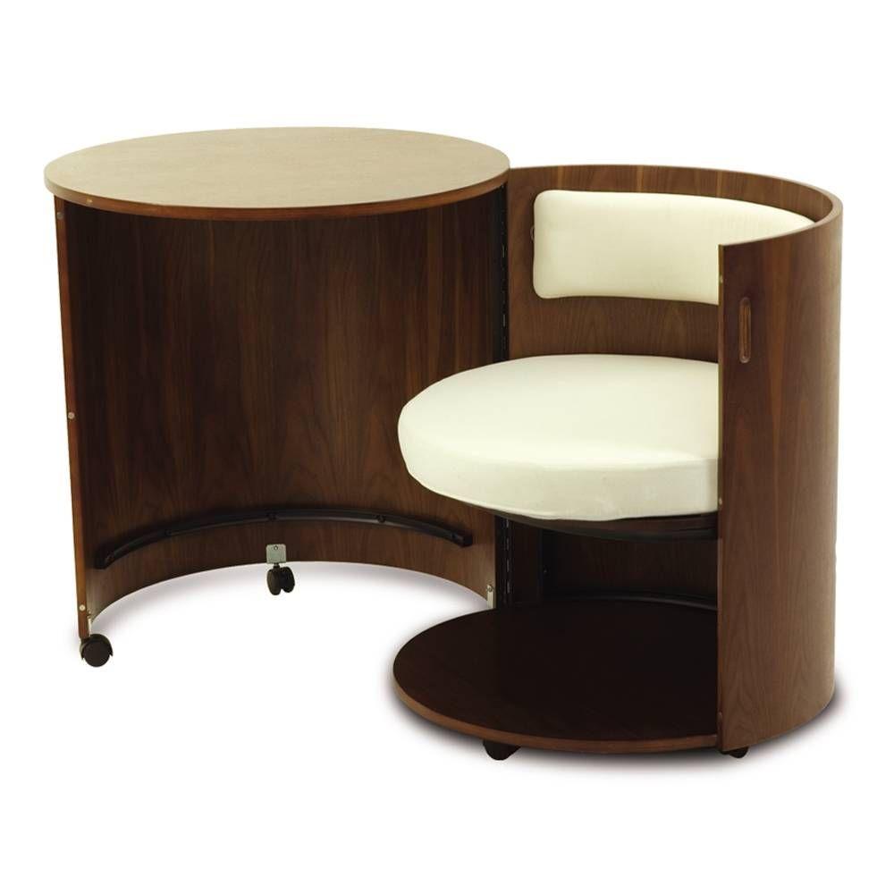 Mesa para computadora zylku nogal americano 00750225362223 for Sillas de escritorio walmart