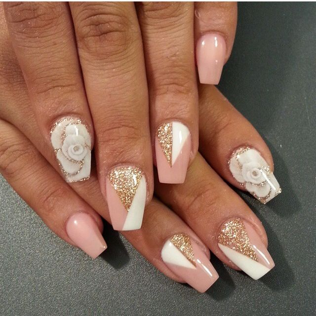Instagram Photo By Thenailboss Nail Nails Nailart Nude White