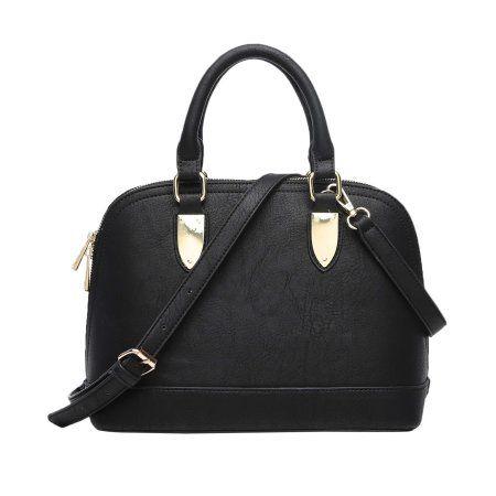 Free Shipping. Buy Black Shell Shape Handbags for Women with Long ...