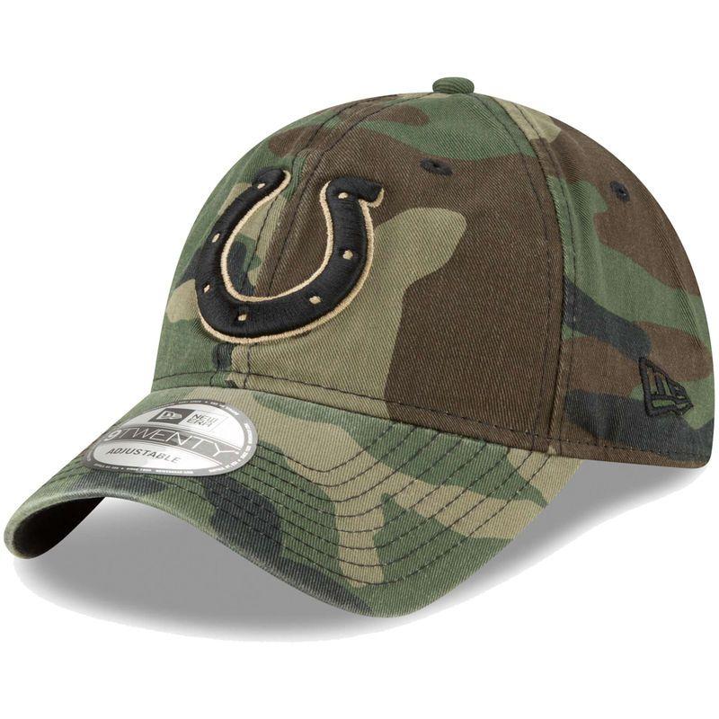 huge selection of 02157 b1f43 Indianapolis Colts New Era Woodland Camo Core Classic 9TWENTY Adjustable Hat