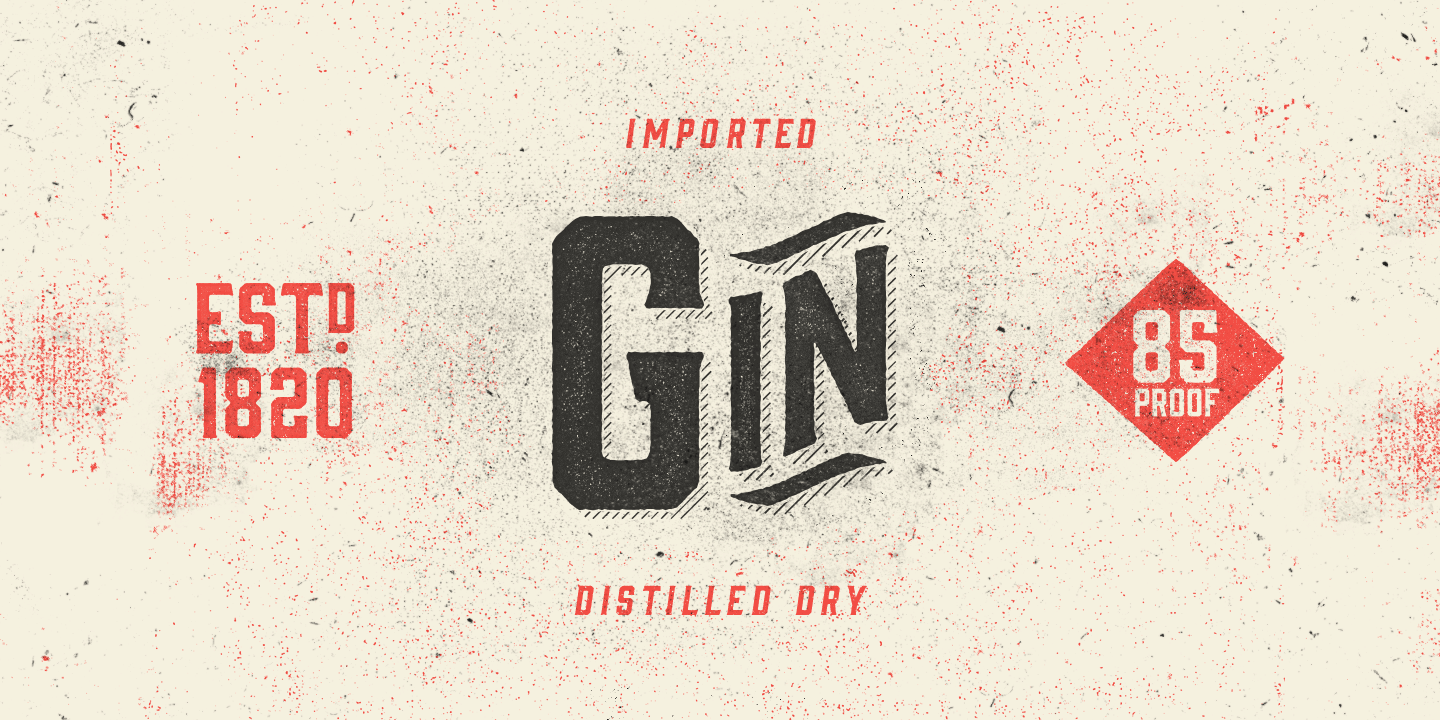 Gin Desktop App And Web Fonts By Fort Foundry Vintage Fonts Typeface Lettering
