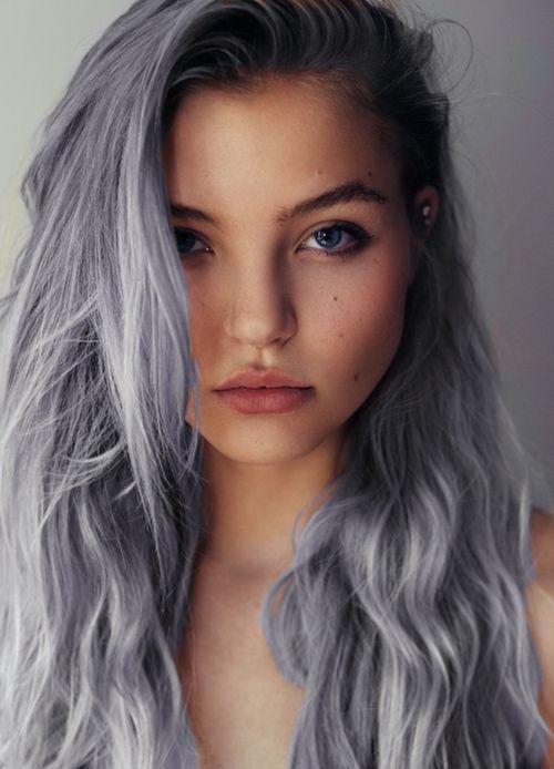 couleur de cheveux gris bleu