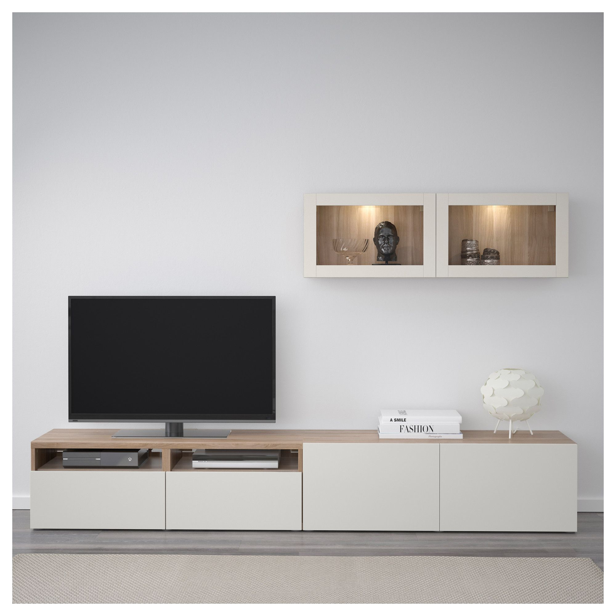 Ikea Besta Im Badezimmer Ikea BestÅ Tv Storage Combination Glass Doors Walnut
