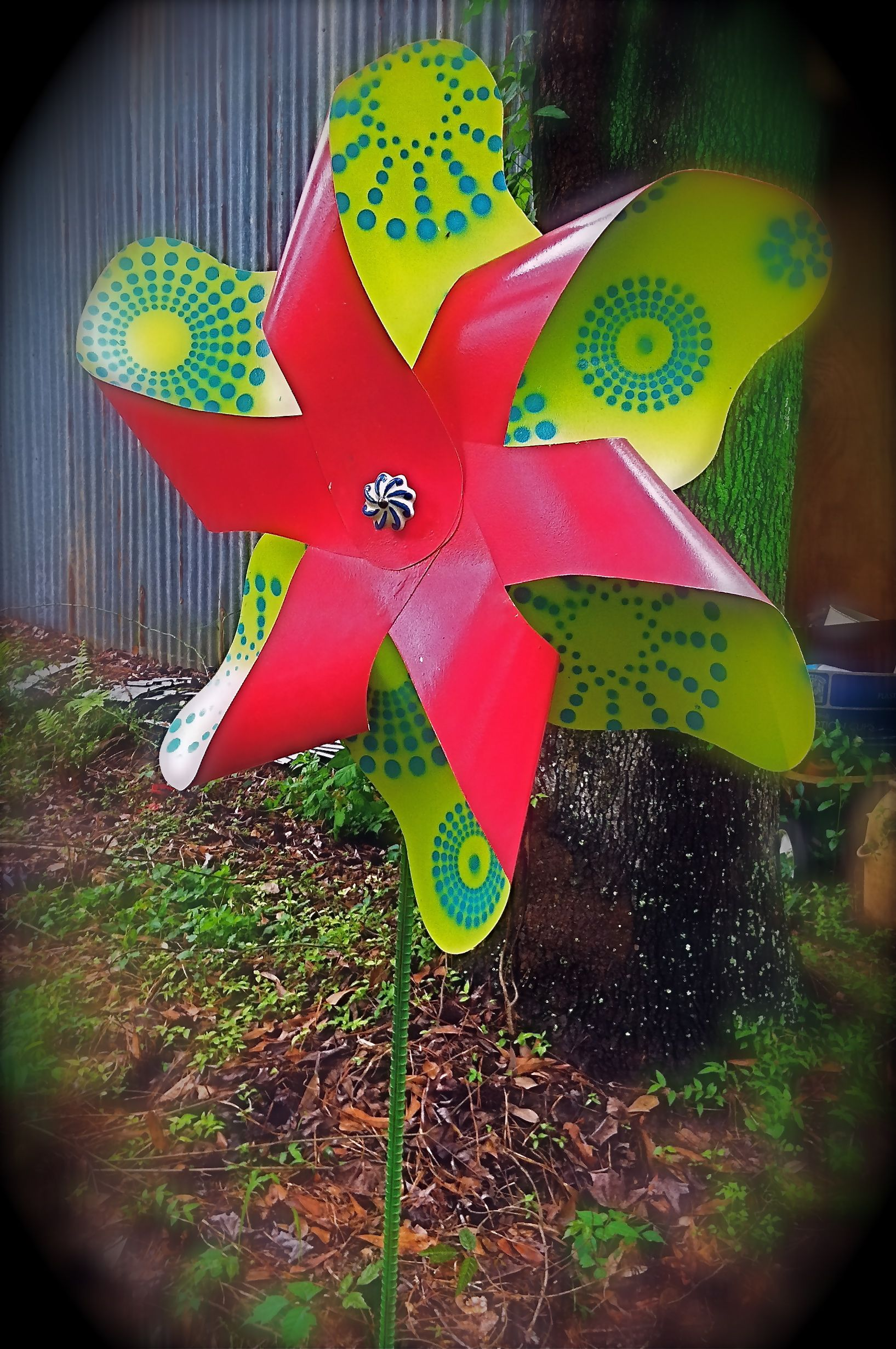 Large Tin Pinwheel For Your Garden