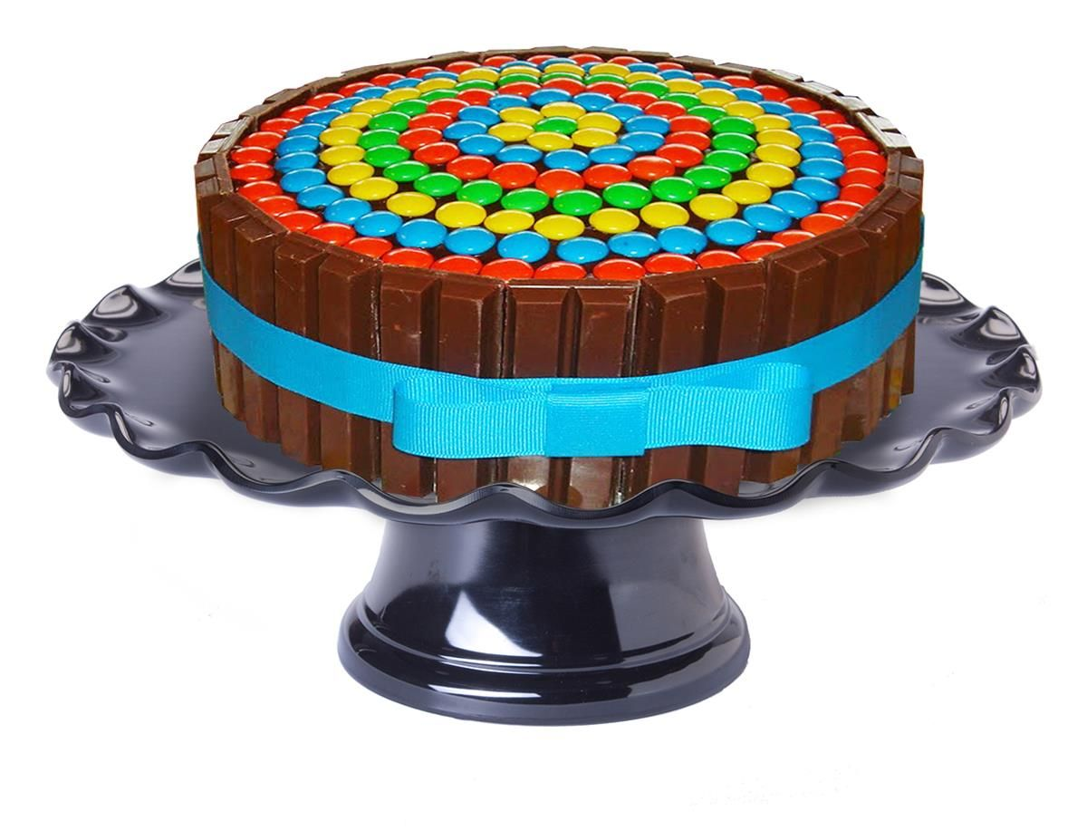 black cake stand with dome lid