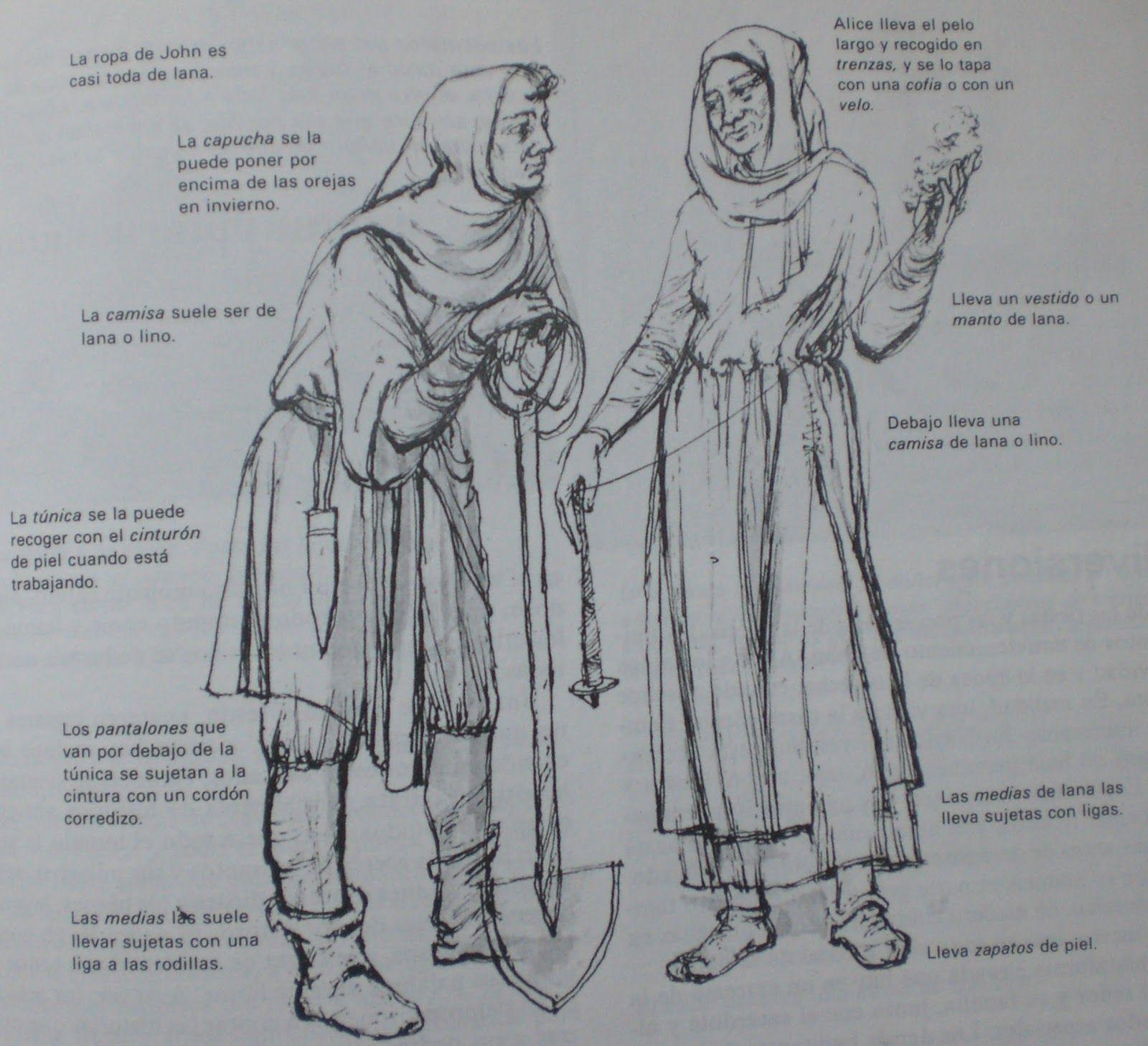 Esta es la ropa que usaban los campesinos en la edad media la poca medieval pinterest - Ropa interior medieval ...