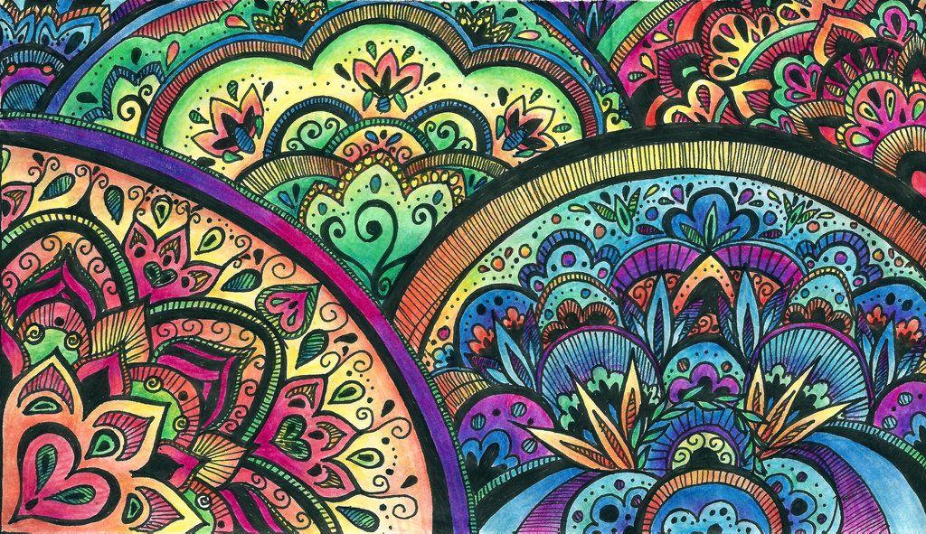 DeviantArt More Collections Like Color Mandala Detail By Ballofplasma
