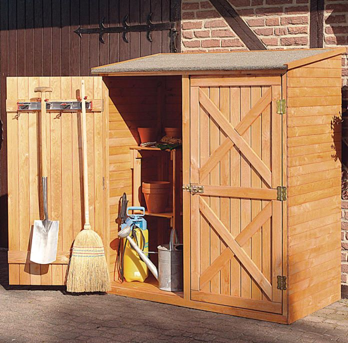 Gartenhaus Gartenschrank Holz Gerateschrank Schuppen Design
