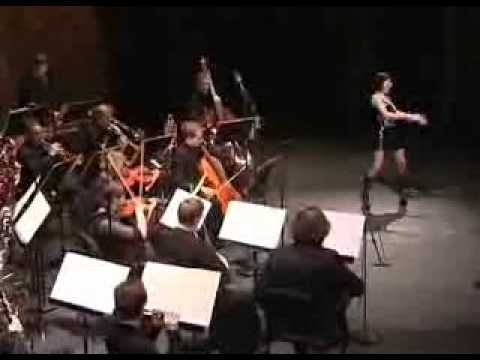 Soprano Barbara Hannigan (who will be working with the orchestra again in May 2015) in a performance of Ligeti's 'Mysteries of the Macabre' from 2011