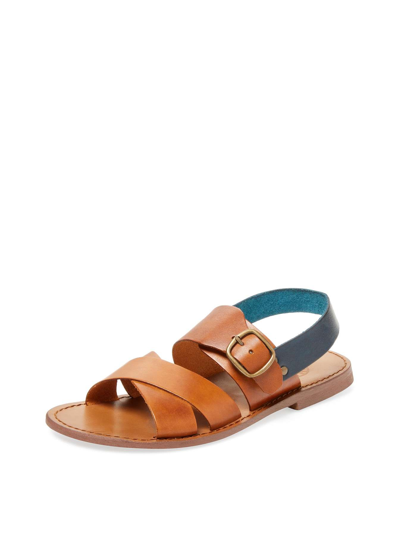 460fb96ee Miramare Italia Counter Strap Slide Sandal Toe ring sandal Leather  Criss-cross straps at front