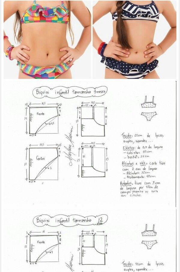Pin by Marleny Diaz on traje de baño. Patrones de costura ...