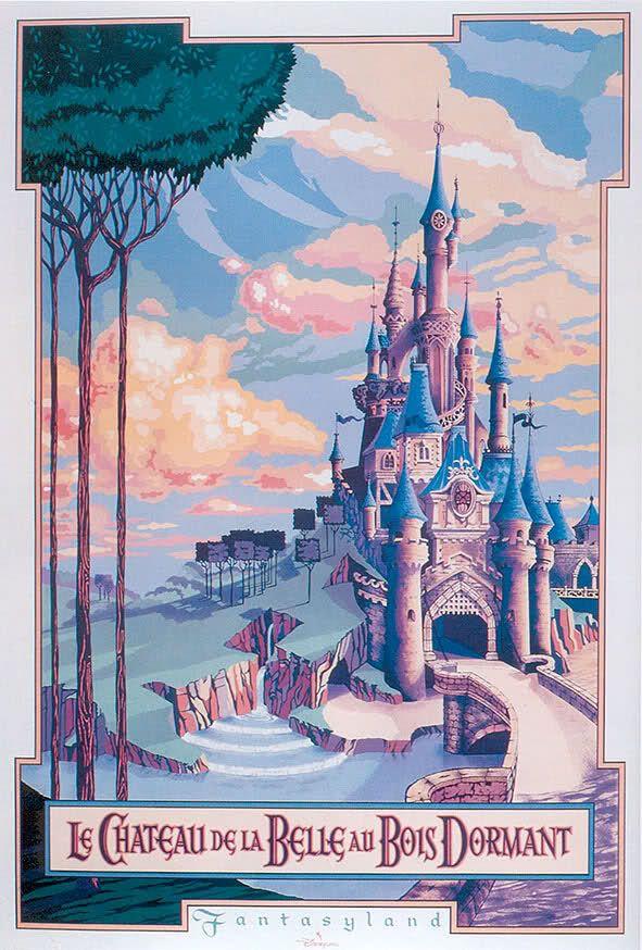 La Belle Au Bois Dormant En Anglais : belle, dormant, anglais, Château, Belle, Dormant, (English:, Castle, Beauty, Sleeping, Wood), Posters, Disney, Vintage,, Disneyland,, Affiches
