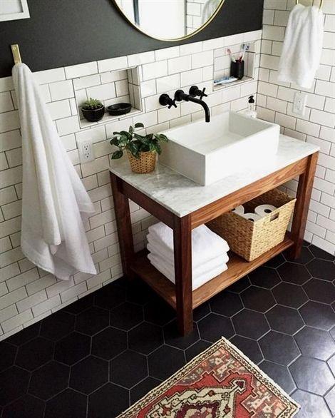 Dark Marble Bathroomdesigns: Beautiful Bathroom Vanities # BathroomDesigns