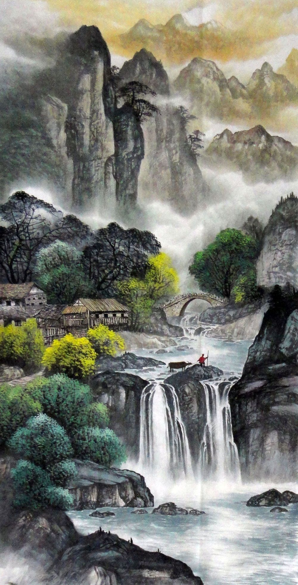 Mountain painting Nature art for sale Traditional Chinese ...