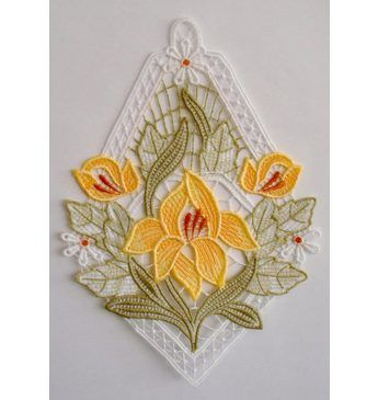 Fensterbild, Stickereien Plauen, »Lilienzeit« Jetzt bestellen unter: https://moebel.ladendirekt.de/dekoration/bilder-und-rahmen/bilder/?uid=804f6266-af2e-5d99-8bcb-d53e50572da0&utm_source=pinterest&utm_medium=pin&utm_campaign=boards #textile #wohnaccessoires #bilder #rahmen #dekoration