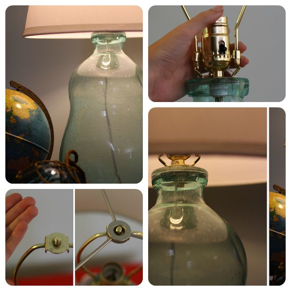DIY How To Make A Bottle Lamp