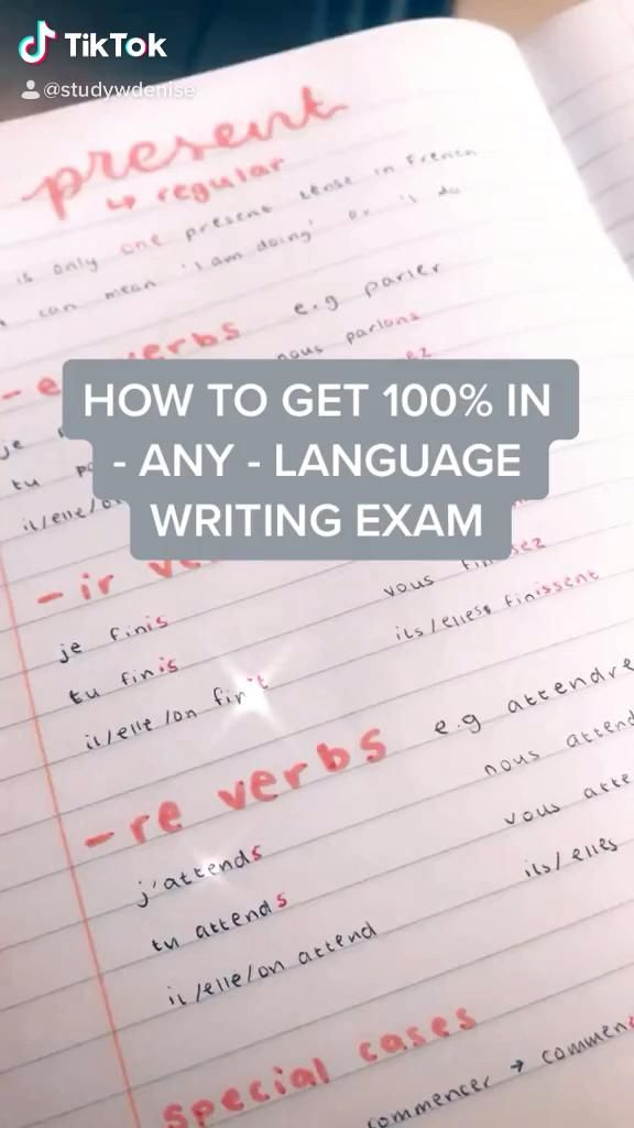 how to get 100% in any language writing exam