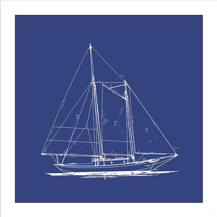 Sailboat Blueprint Framed Wall Art I Home Pinterest Walls - copy plane blueprint wall art