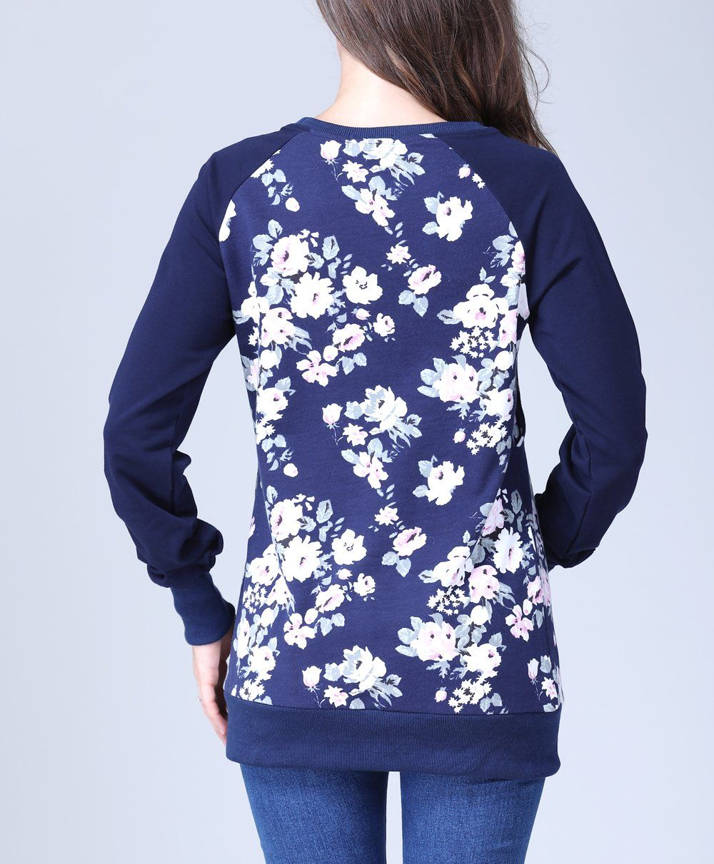 76f82cfbd0329 nursing tops - Emotion Moms Long Sleeve Winter Maternity Clothes Cotton  Nursing Breastfeeding Tops for Pregnant Women Small Blue >>> Continue to  the item at ...