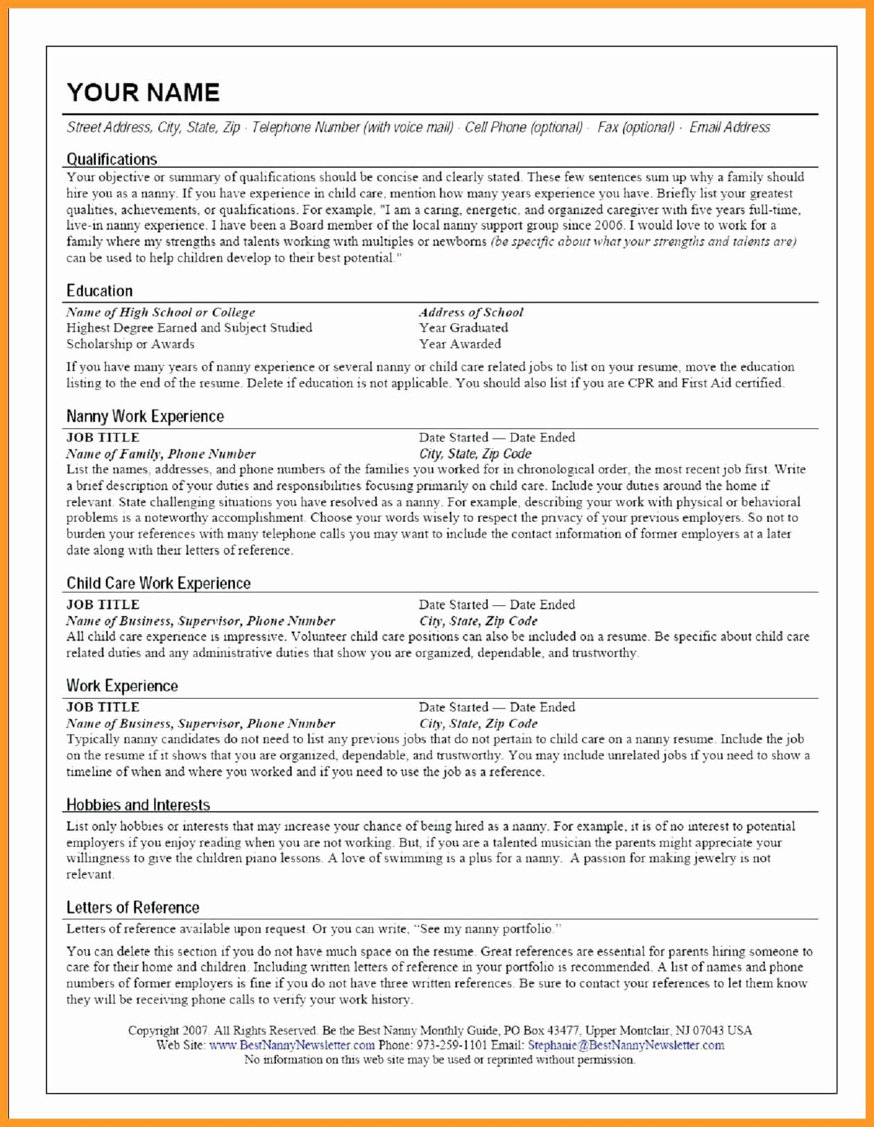Babysitter Job Description Resume Fresh 9 10 Child Care Duties For Resume Babysitter Jobs Job Resume Examples Lifeguard Job Description