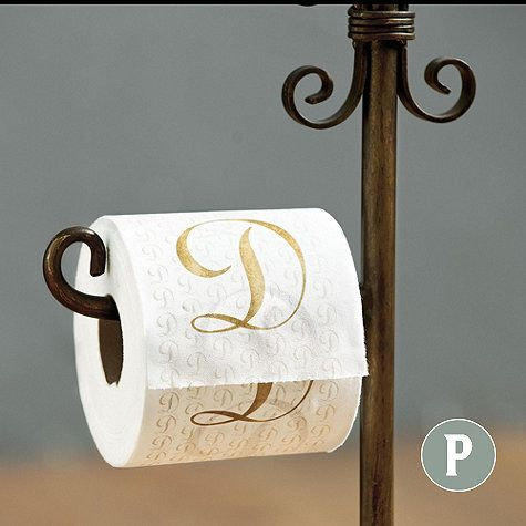 Monogrammed Bathroom Tissue Set Of 2