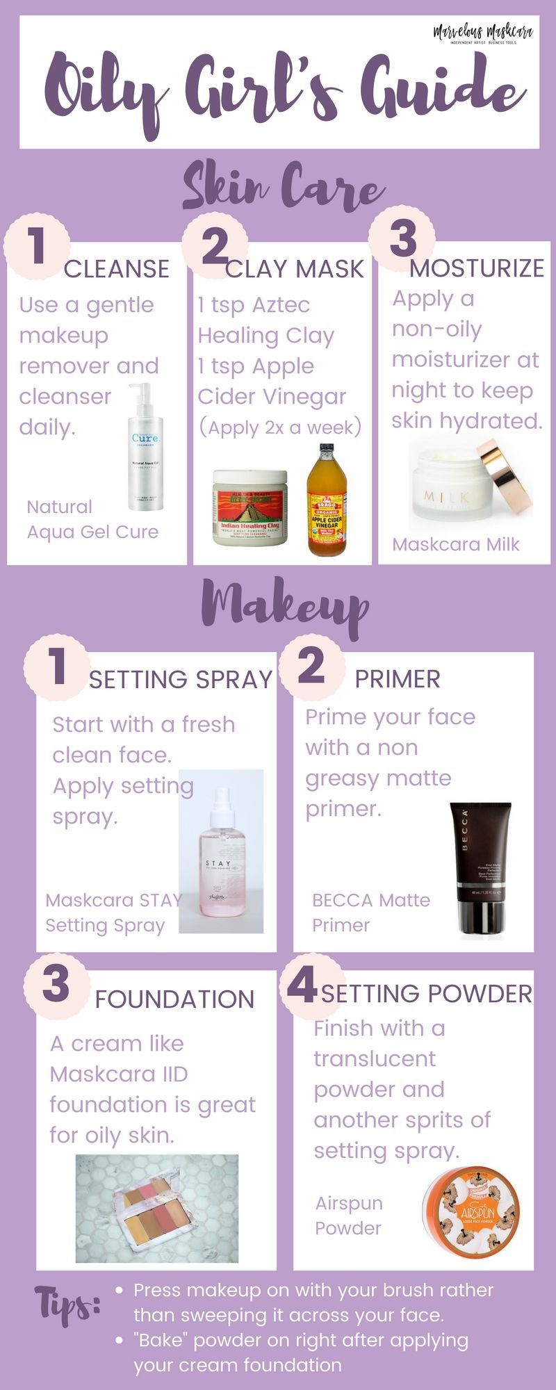 Oily Girls Guide Makeup And Skincare Tips For Women With Oily Skin Oily Skin Care Routine Skin Care Oily Skin Care