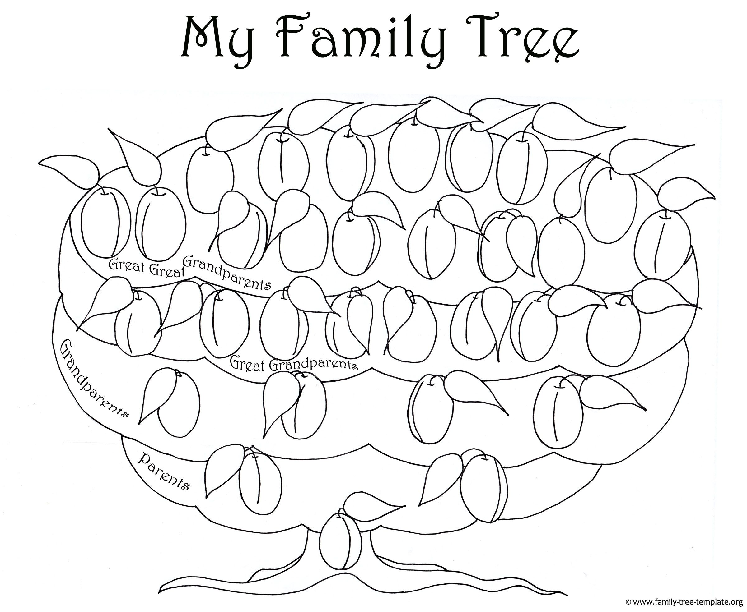 The Free Printable Plum Tree Chart For Kids To Color Blank