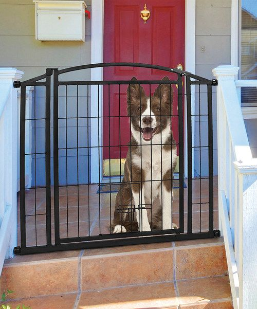 Look At This Black Extra Wide Walk Through Pet Gate On Zulily Today Dog Gate Outdoor Pet Gate Outdoor Dog Gate Outdoor pet gate extra wide