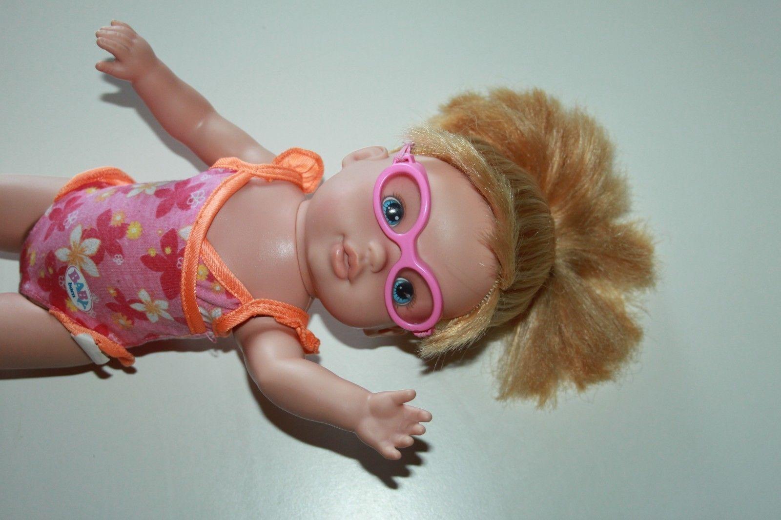 Zapf Baby Born Mommy Look I Can Swim Doll Blond Long Hair